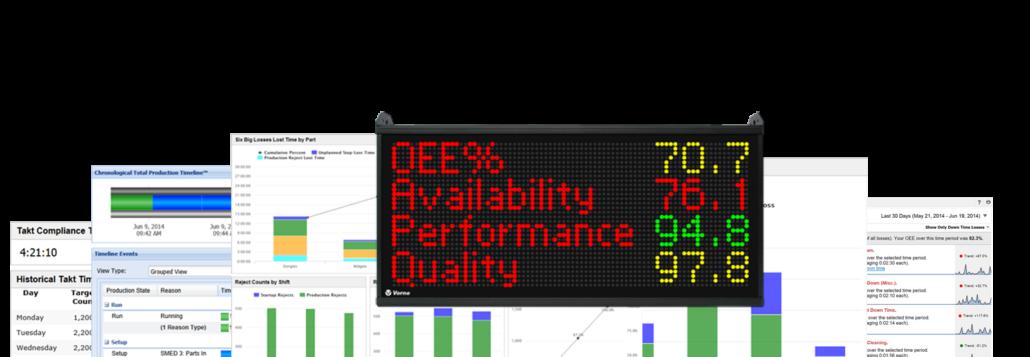 xl & oee visual display